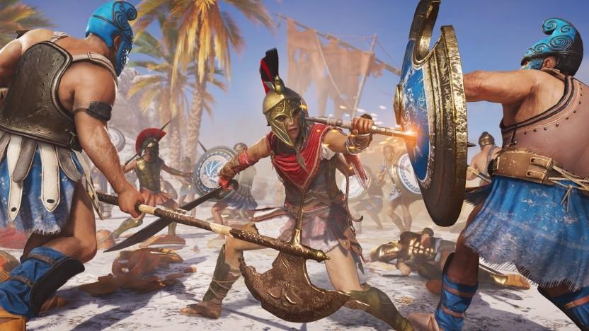 Weibliche Hauptfigur im Ubisoft-Spiel Assassin's Creed Odyssey