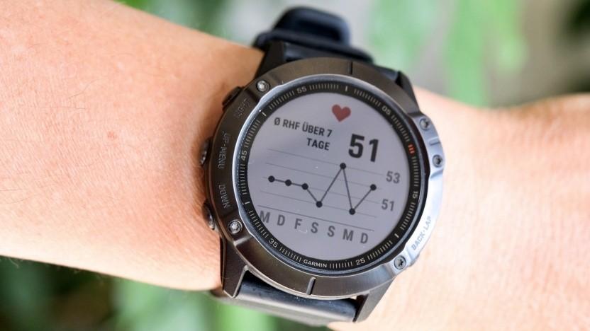 Ruheherzfrequenz auf einer Garmin Fenix 6X