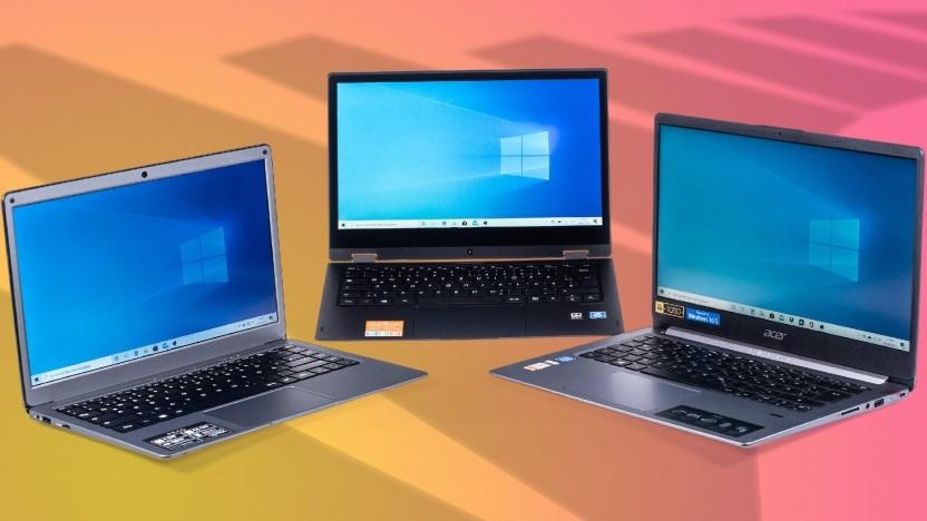 Drei Notebooks, drei Preise, aber nur ein Sieger. Trekstor (l.) Medion (M.) und Acer (r.) treten an.