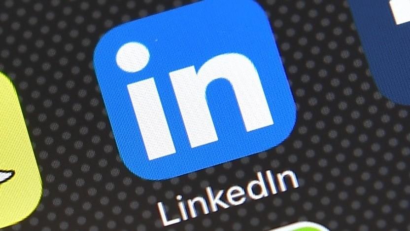 Linkedin-App: Die App prüft, ob eingegebener Text identisch mit der Zwischenablage ist..