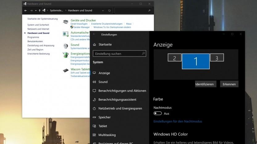 Windows 10 verwendet noch immer zwei völlig verschiedene Systemsteuerungen.