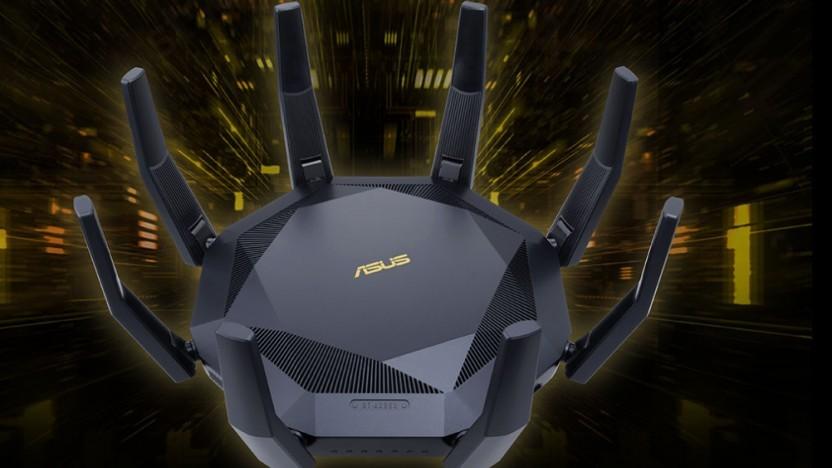 Der Asus-Router ist ziemlich auffällig.