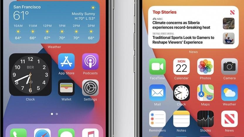 Kaum wiederzuerkennen: der neue Homescreen von iOS 14