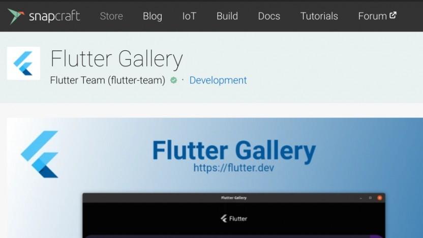 Flutter für Linux gibt es via Snap. Hinzu kommen Widgets wie in der Flutter Gallery.