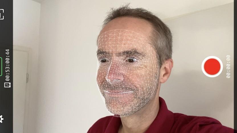 Golem.de-Redakteur in Live Link Face
