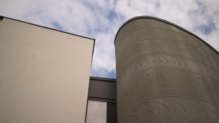 3D-gedrucktes Haus in Westerlo, Belgien: Überhang und stark gebogene Wände