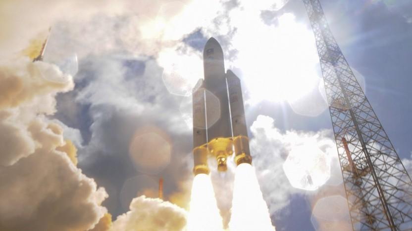 Start einer Ariane-Rakete in Kourou