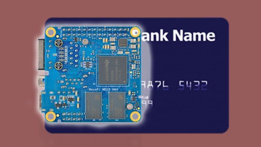 Der Neo3 passt auf die Fläche einer Kreditkarte.