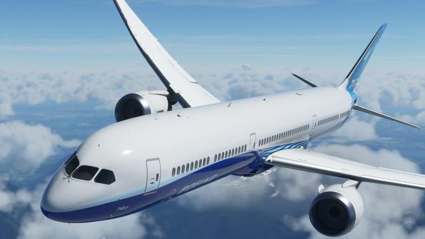 Artwork des Dreamliner im MS Flight Simulator