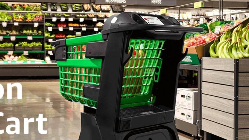 Der neue Einkaufswagen Dash Cart von Amazon