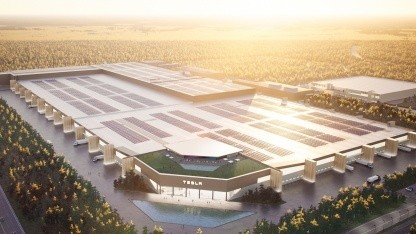 Die geplante Tesla-Fabrik in Grünheide