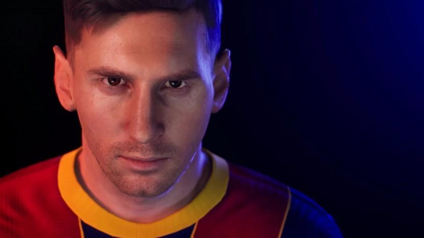 Artwork von Lionel Messi im Teaser von PES