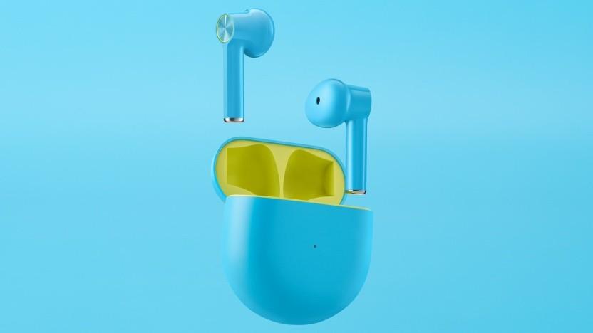 Die Buds gleichen im Design den Apple Airpods.