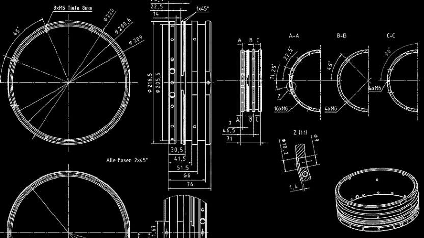 Bislang gibt es die Trägerrakete von Hyimpulse nur in Form von Konstruktionszeichnungen.