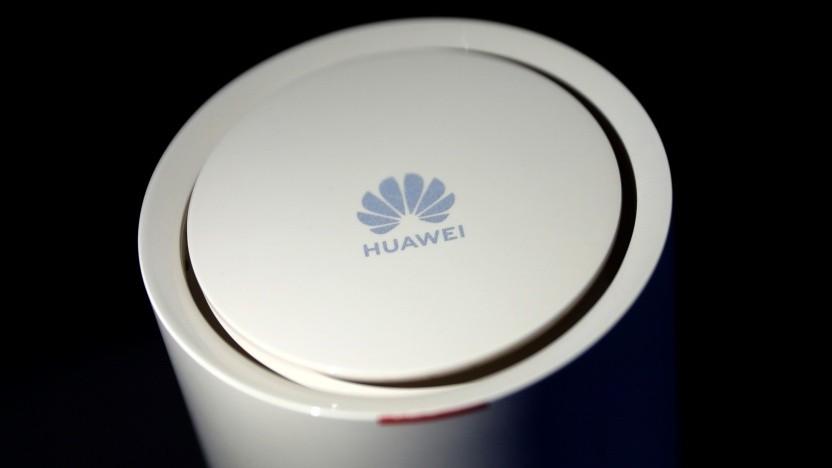 Huawei Router - gezeigt während eines 5G-Events in London am 20. Februar 2020