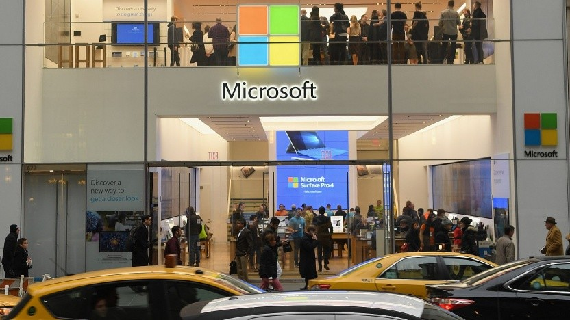 Microsoft Store in New York im Jahr 2017