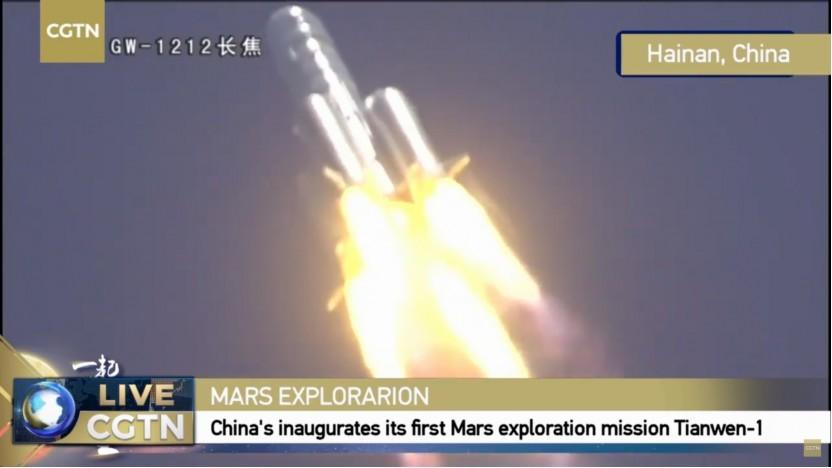 Erst nach dem erfolgreichen Start wurden Aufnahmen davon im chinesischen Fernsehen gezeigt.