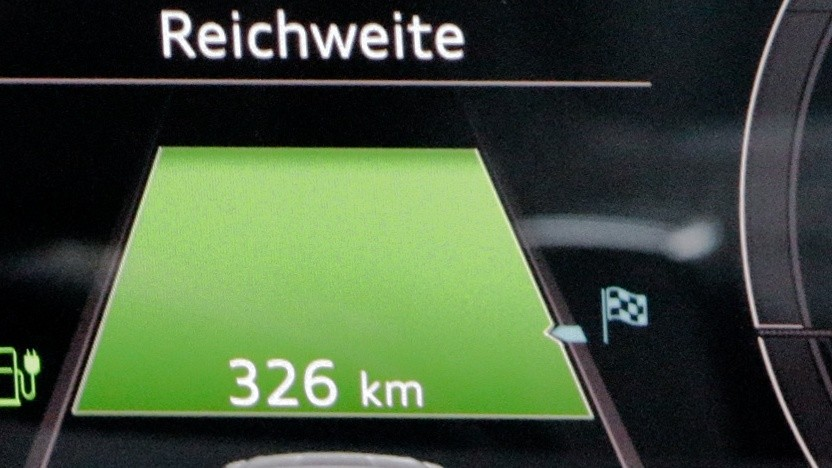 Ladestandsanzeige in einem Audi