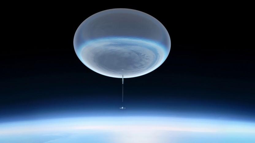 Künstlerische Darstellung eines Höhenballons: In 40 Kilometern Höhe kann das Teleskop Licht auffangen, das die Atmosphäre nicht durchdringt.