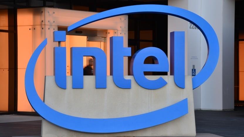 Intel-Logo in Santa Clara, Kalifornien