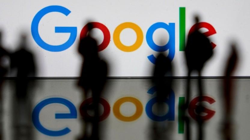 Google-Logo in Brüssel