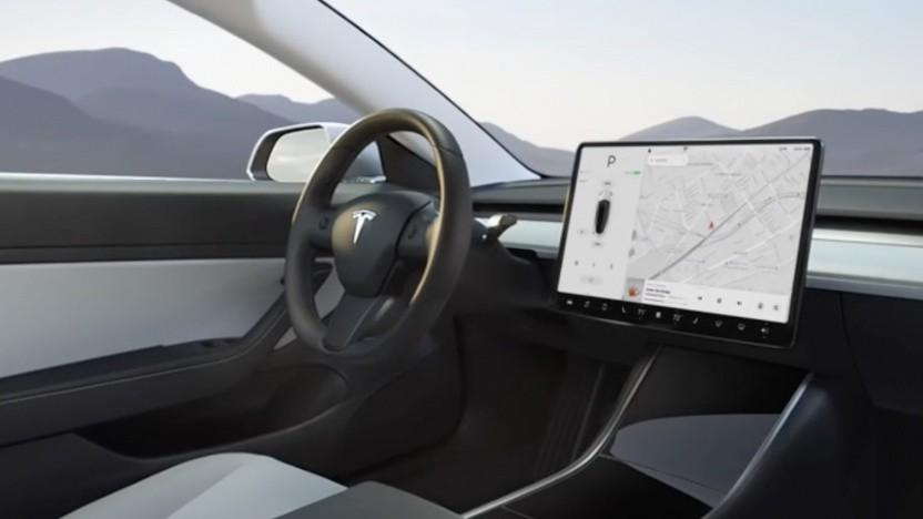 Touchscreen in einem Model 3