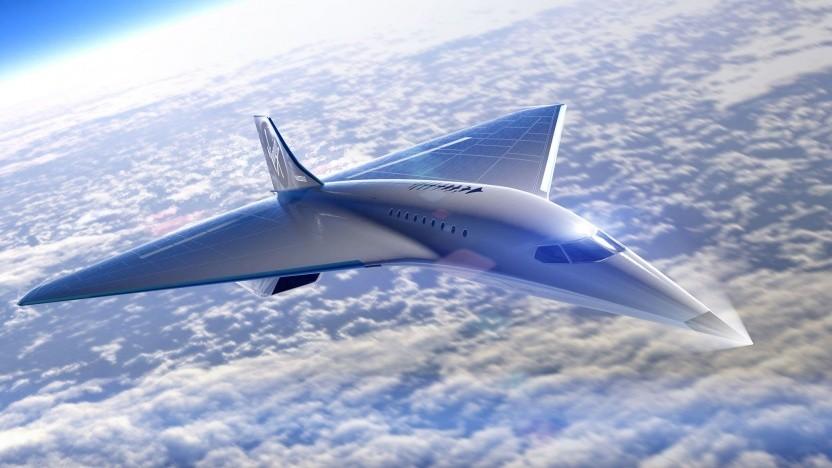 Vigin Galactics Entwurf des Überschallflugzeugs: Emissionen, Lärm und Wirtschaftlichkeit