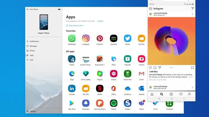 Die Instagram-App von Android unter Windows 10