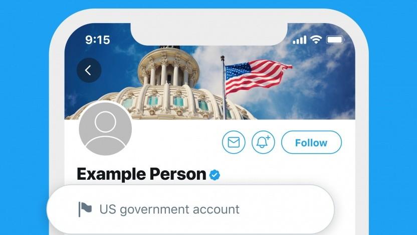 Twitter markiert Accounts mit Staatsnähe.