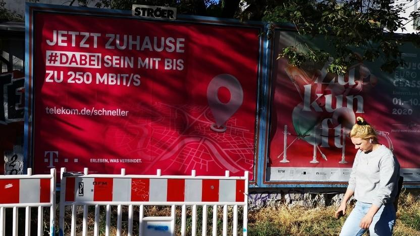 Super-Vectoring-Werbung der Deutschen Telekom