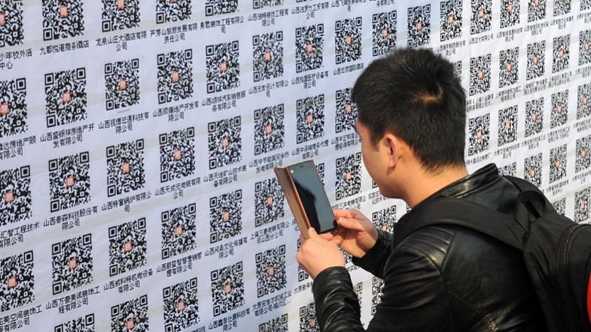 QR-Codes für Wechat ersetzen in China unter anderem Bargeld.