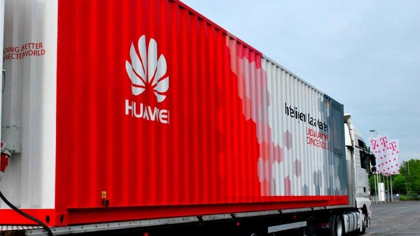 Ein mobiles Rechenzentrum von Telekom und Huawei aus dem Jahr 2016