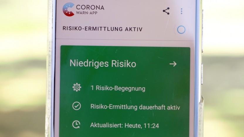 Die Corona-Warn-App der Regierung