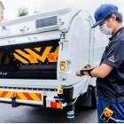 Ecanter Sensorcollect: Müllauto fährt hinter Müllmann her