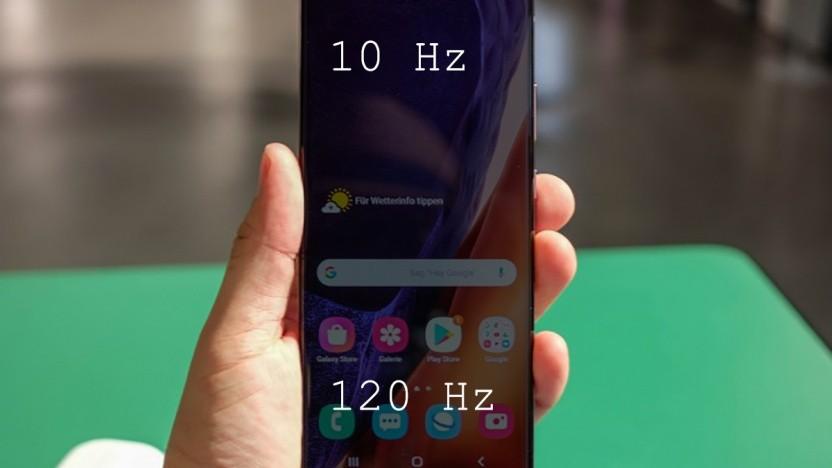 Das Samsung Galaxy Note 20 Ultra wird eines der ersten Smartphones mit dem Display sein.