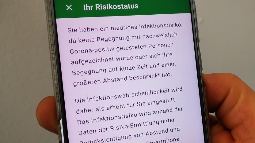 Verwirrender Risikostatus in der Corona-Warn-App