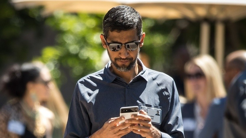 Google-Chef Sundar Pichai im Juli 2018