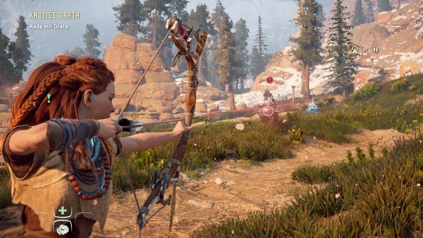 Szene aus der PC-Version von Horizon Zero Dawn
