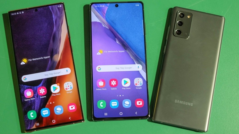 Unter anderem die neue Galaxy-Note-20-Reihe soll drei Android-Versionen als Upgrades erhalten.