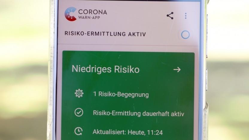 """Die Corona-Warn-App dient der """"Risiko-Ermittlung"""" in der Pandemie."""