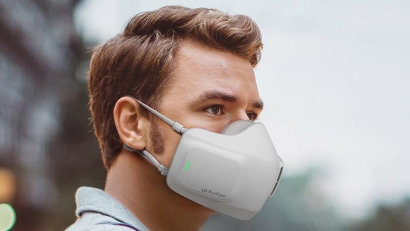 Ein etwas gewöhnungsbedürftiger Anblick: der Mund-Nasen-Schutz von LG