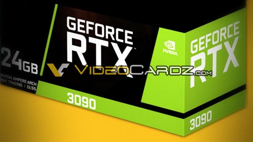 Rendering der Packung einer Geforce RTX 3090 FE