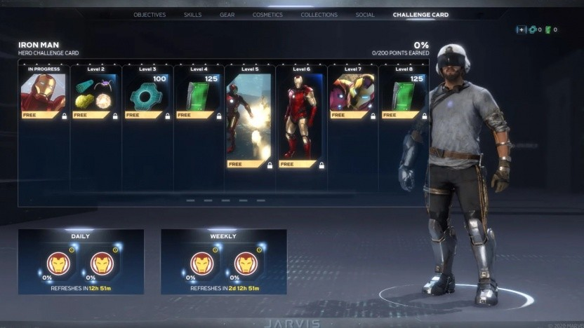 Die Hero Challenge Card von Iron Man
