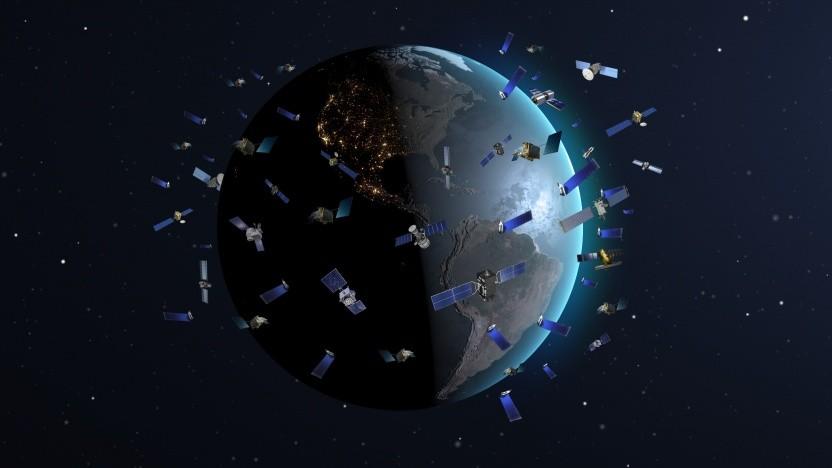Satellitenkonstellationen bereiten der Astronomie Sorgen.
