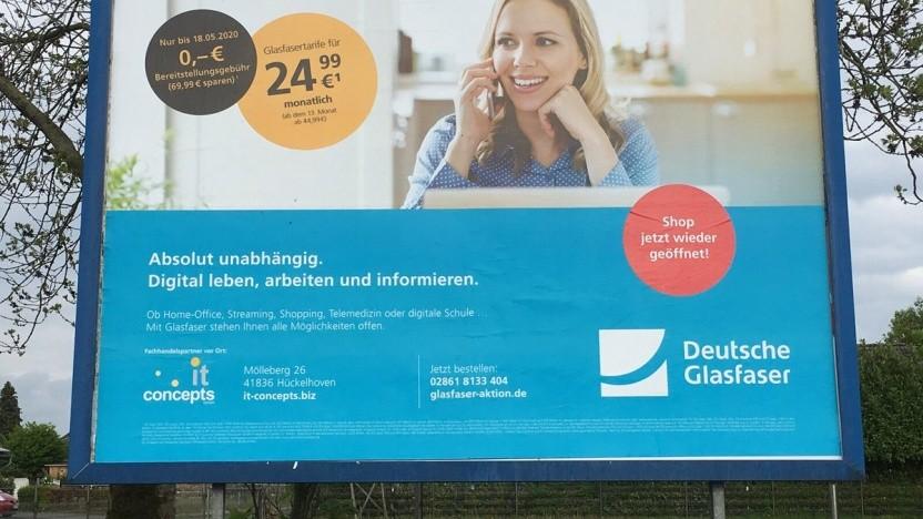 Werbung für die Deutsche Glasfaser