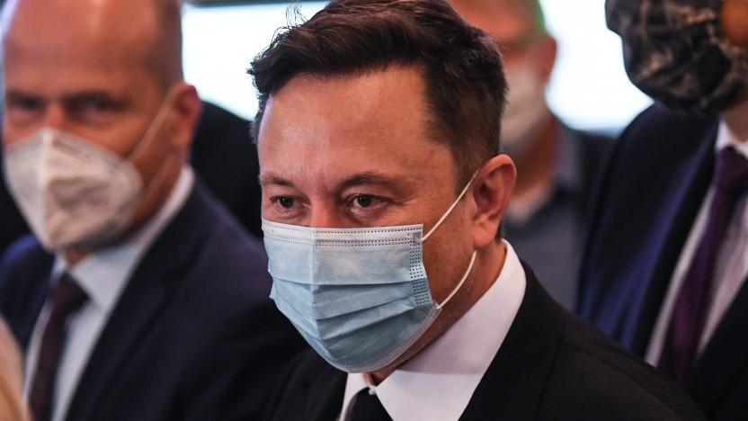 Tesla-Chef Elon Musk bei seinem Besuch in Berlin
