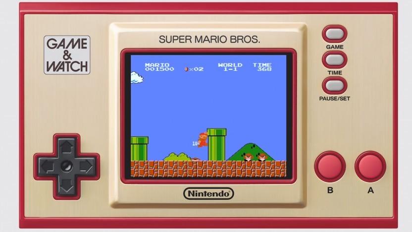 Das Game & Watch: Super Mario Bros. wird mit zwei Spielen ausgeliefert.