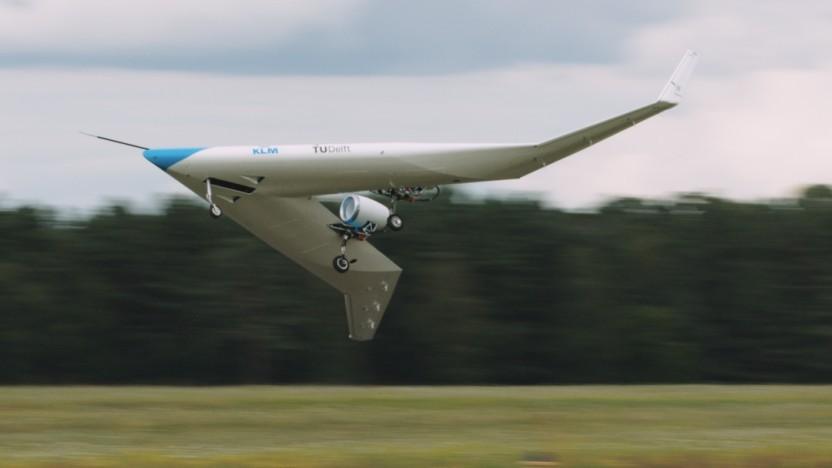 Flying V beim Erstflug