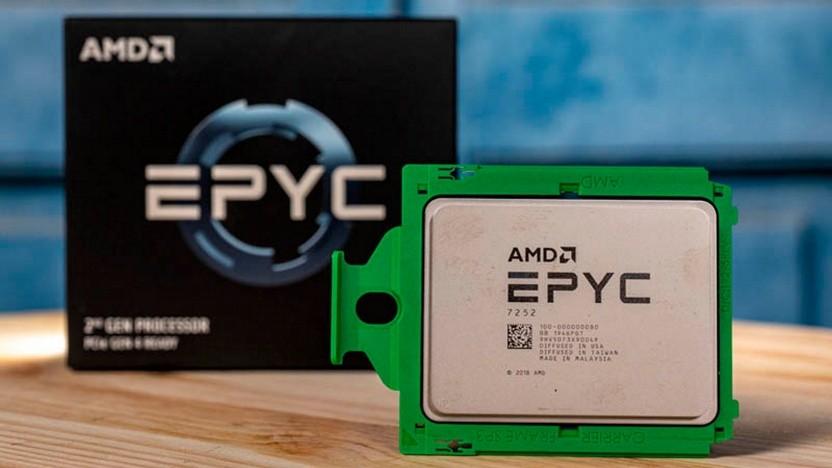 Epyc-CPU vor Packung