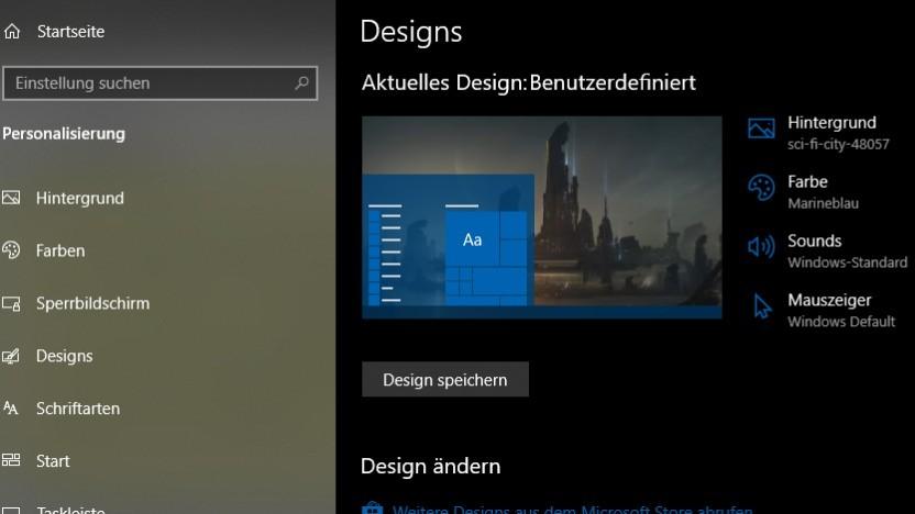 Windows-Designs sollen eigentlich den Desktop anpassen und nicht Kontodaten stehlen.